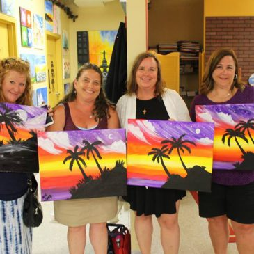 Paint night supports Santa Maria